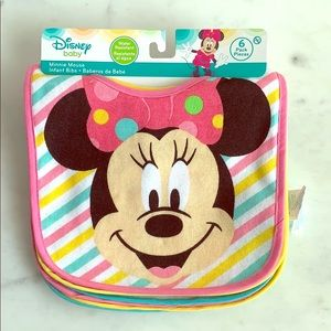 Disney baby New with tag 6 pack Minnie Bibs
